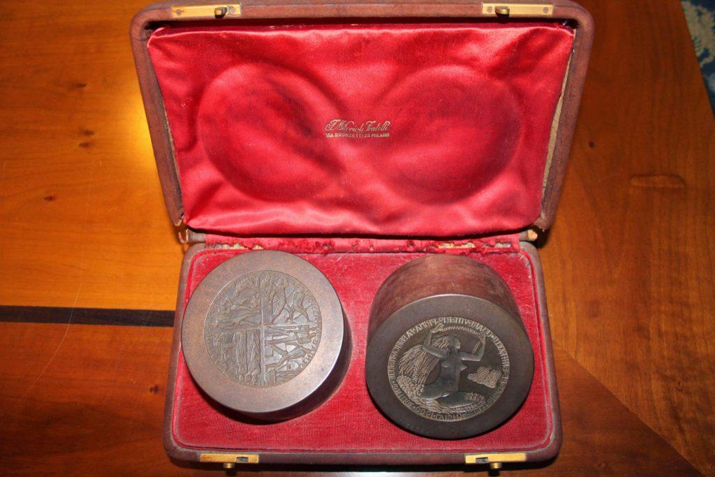 Conio e medaglia Napoleone Martinuzzi
